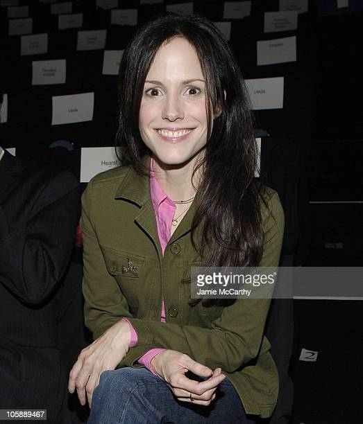 Mary Louise Parker during Olympus Fashion Week Fall 2006 Lacoste Front Row and Backstage at The Tent Bryant Park in New York City New York United...