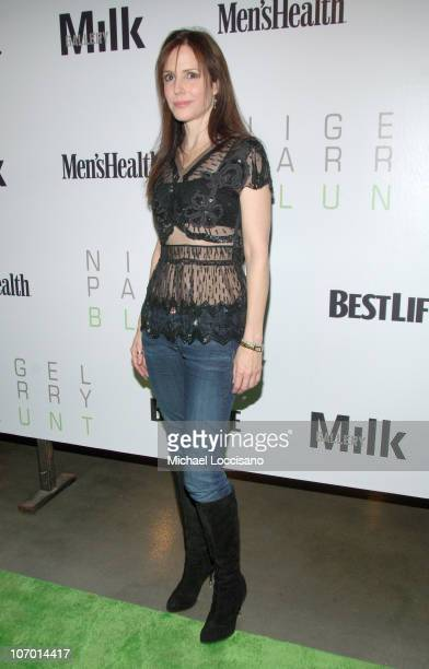 Mary Louise Parker during Opening Night Party for Nigel Parry's Blunt Exhibition Hosted by Men's Health December 5 2006 at MILK Studios in New York...