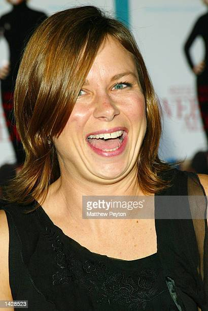 Mary Lynn Rajskub enjoys a laugh at the world premiere of Touchstone Pictures' Sweet Home Alabama at the Chelsea West Cinema September 23 2002 in New...
