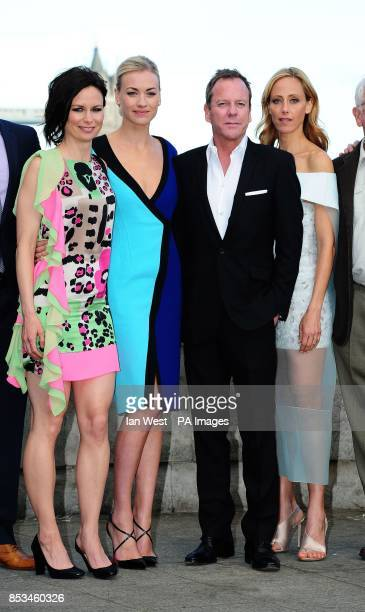 Mary Lynn Rajskub Yvonne Strahovski Kiefer Sutherland and Kim Raver attending the 24 Live Another Day UK Premiere at Old Billingsgate London