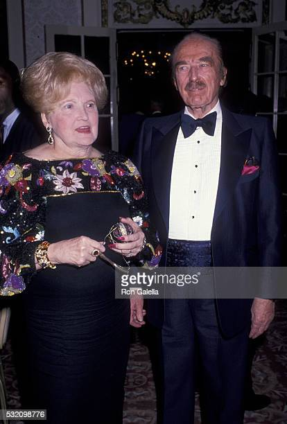 Mary MacLeod Trump and Fred Trump attend 17th Annual Police Athletic League Awards Dinner on May 12 1999 at the Plaza Hotel in New York City