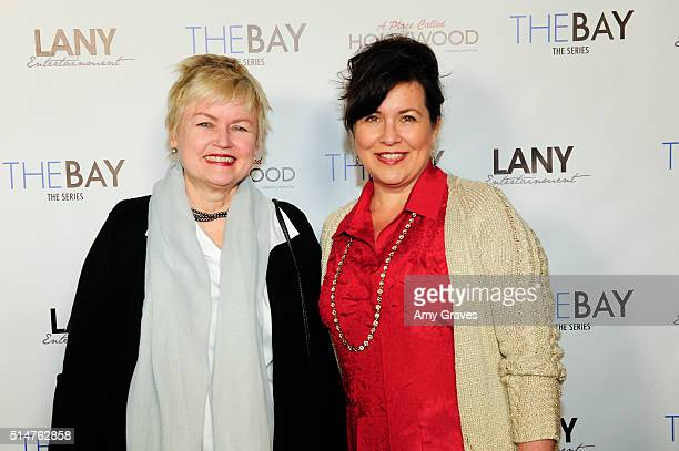 Mary Maderes and Christine Rosato attend the 5th Annual LANY Entertainment Mixer at St Felix on March 10 2016 in Hollywood California