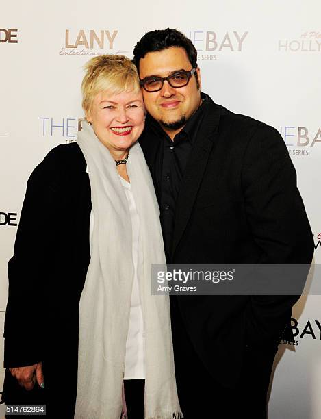 Mary Maderes and Gregori Martin attend the 5th Annual LANY Entertainment Mixer at St Felix on March 10 2016 in Hollywood California