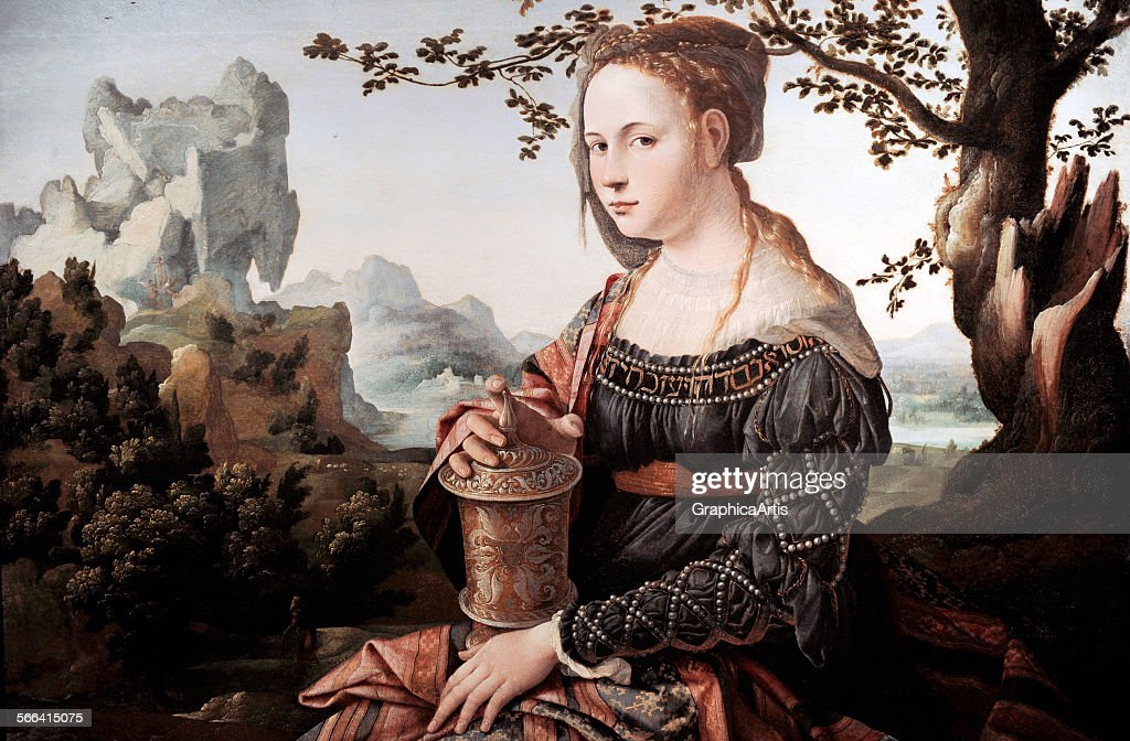 Mary Magdalene by Jan van Scorel (Dutch, 1495 - 1562); oil on panel, circa 1530. From the Rijksmuseum, Amsterdam, Holland.
