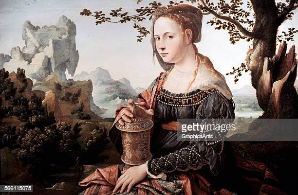 Mary Magdalene by Jan van Scorel ; oil on panel, circa 1530. From the Rijksmuseum, Amsterdam, Holland.