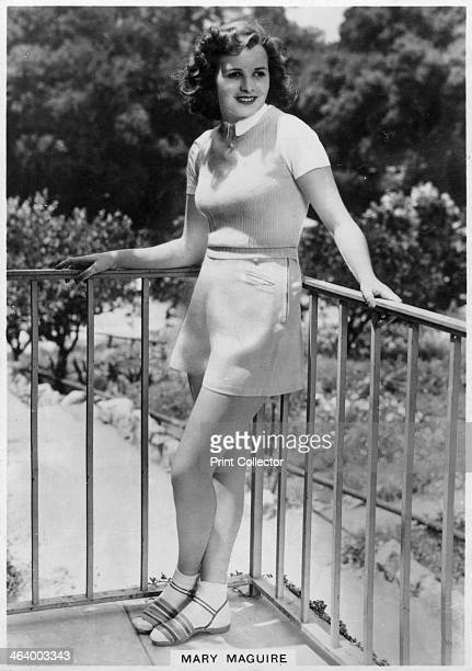 Mary Maguire Australian actress c1936c1939 Mary Maguire was a star of British and Hollywood cinema in the late 1930s Cigarette card from 'Real...