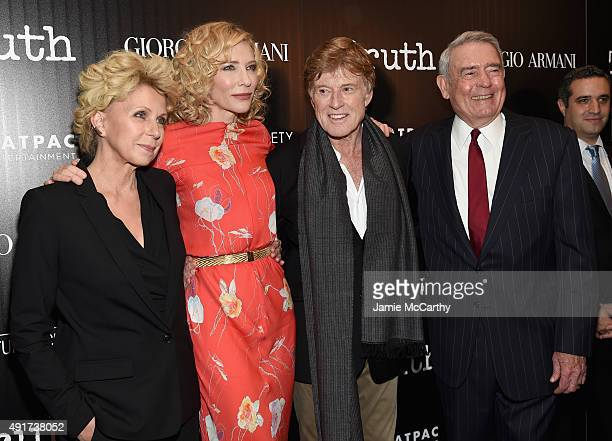Mary Mapes Cate Blanchett Robert Redford and Dan Rather attend the Giorgio Armani and Cinema Society screening of Sony Pictures Classics' Truth at...