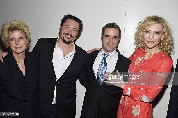 """Mary Mapes, James Vanderbilt, Brad Fischer and Cate Blanchett attend the Armani and Cinema Society Screening of Sony Pictures Classics' """"Truth"""" after..."""