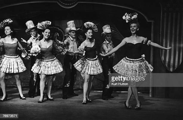 Mary Martin stars as Nellie Forbush in the Rodgers and Hammerstein musical 'South Pacific' at the Drury Lane Theatre London 1st December 1951 In this...
