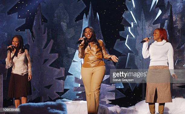 Mary Mary Kelly Price during 2001 Soul Train Christmas Starfest Show at Santa Monica Civic Auditorium in Santa Monica California United States