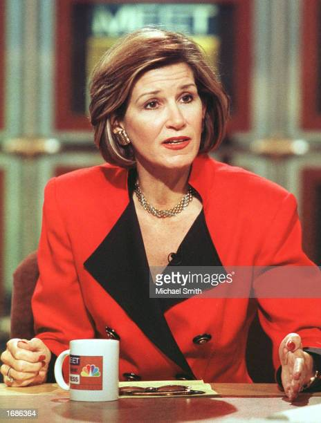 Mary Matalin discusses the 2000 election on NBC's 'Meet the Press' November 28 1999 in Washington DC Matalin the wife of Democratic consultant James...