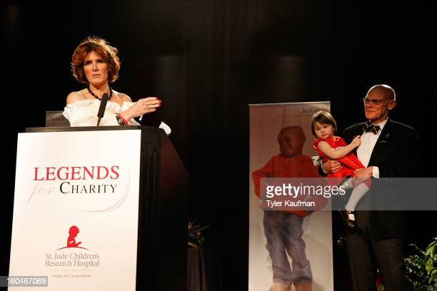 Mary Matalin James Carville and Anna James Bourgeois attend the 2013 Legends For Charity Dinner Honoring Archie Manning at the Hyatt Regency New...