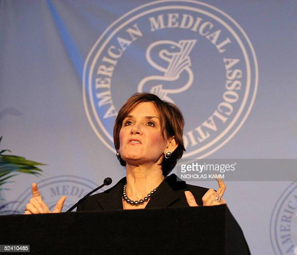 Mary Matalin Republican party strategist and former aide to US Vice President Dick Cheney addresses the American Medical Association about the future...