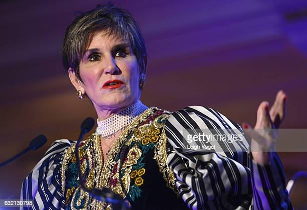 Mary Matalin speaks during PETA's Animals' Party at The Willard Hotel on January 19 2017 in Washington DC