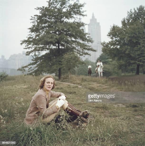 Mary Maude Mckim Central Park New York US April 1959
