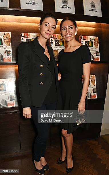 "Mary McCartney and Caterina Murino attend a champagne reception to celebrate the launch of ""Mandarin Oriental: The Book"" by Assouline at Maison..."