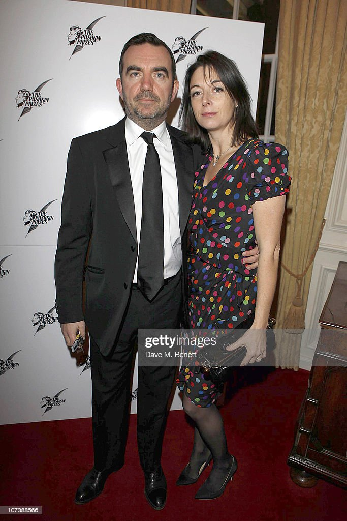 Mary McCartney (R) and husband Simon Aboud attend a Pushkin charity dinner at the Royal Hospital on December 7, 2010 in London, England.