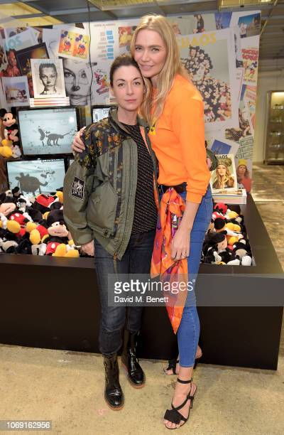 Mary McCartney and Jodie Kidd attend the launch of CHAOS True Originals at DSM London for Mickey Mouses 90th Anniversary at the Dover Street Market...