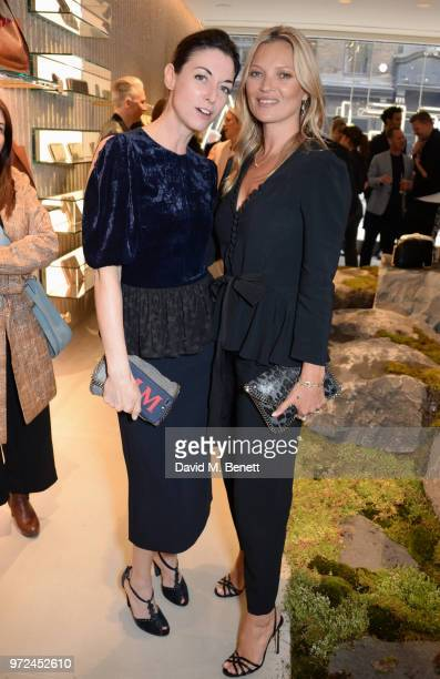 Mary McCartney and Kate Moss attend the launch of the Stella McCartney Global flagship store on Old Bond Street on June 12 2018 in London England