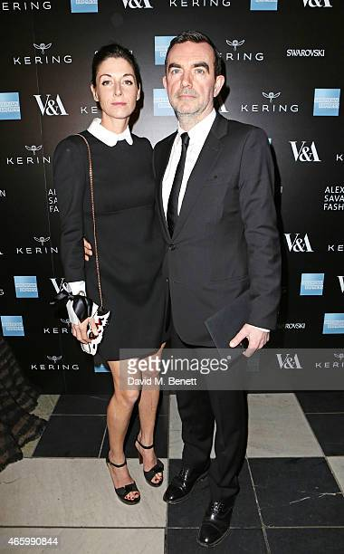 Mary McCartney and Simon Aboud arrive at the Alexander McQueen Savage Beauty Fashion Gala at the VA presented by American Express and Kering on March...