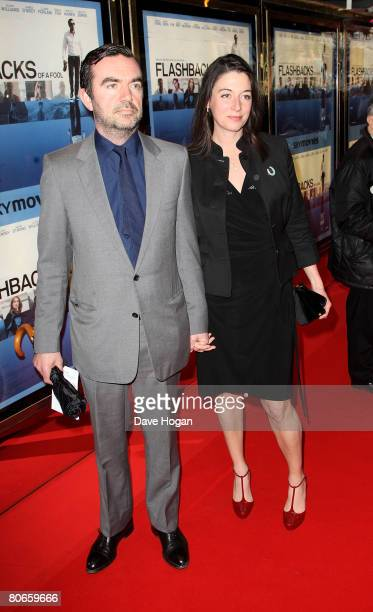 Mary McCartney and Simon Aboud arrive at the UK premiere of 'Flashbacks of a Fool' at the Empire cinema Leicester Square on April 13 2008 in London...