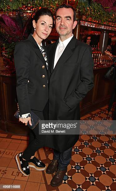 Mary McCartney and Simon Aboud attend Charlotte Tilbury's naughty Christmas party celebrating the launch of Charlotte's new flagship beauty boutique...