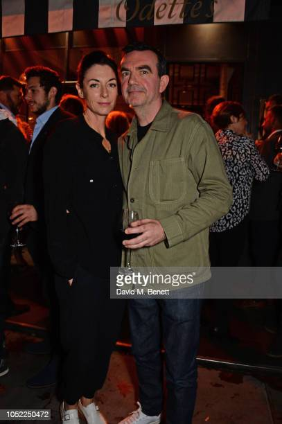 Mary McCartney and Simon Aboud attend the 10th anniversary of Primrose Hill restaurant Odette's on October 15 2018 in London England