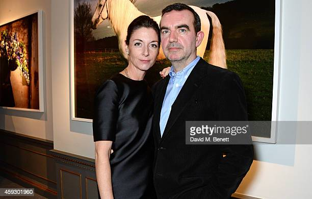 Mary McCartney and Simon Aboud attend the book launch and private view of 'Mary McCartney Monochrome And Colour' curated by De Pury De Pury on...