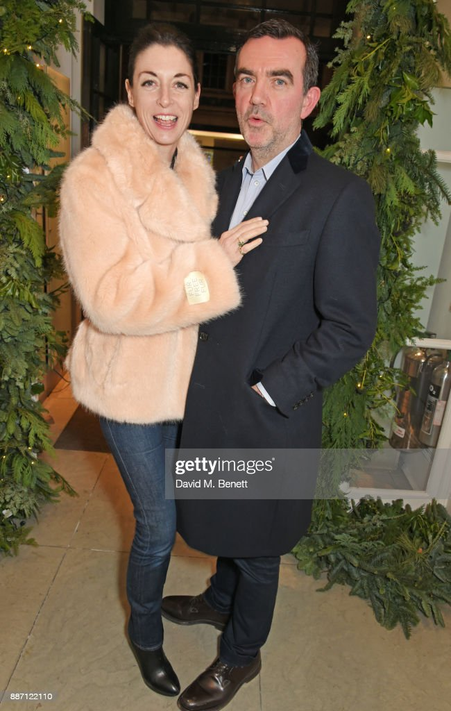 Mary McCartney (L) and Simon Aboud attend the Stella McCartney Christmas Lights 2017 party on December 6, 2017 in London, England.