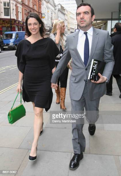 Mary McCartney and Simon Aboud attends Simon Aboud book launch party at the St Martins Lane Hotel on June 8 2009 in London England