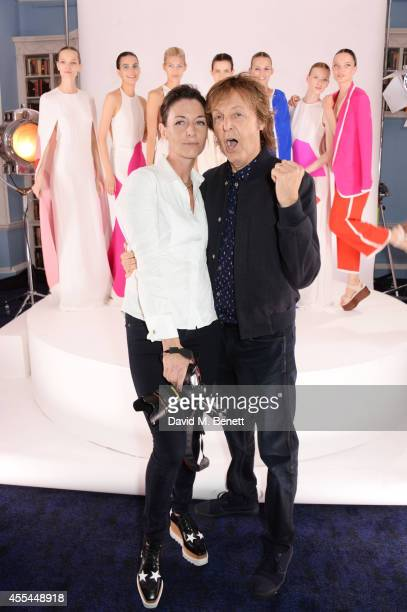 Mary McCartney and Sir Paul McCartney attend The London 2014 Stella McCartney Green Carpet Collection during London Fashion Week at The Royal British...