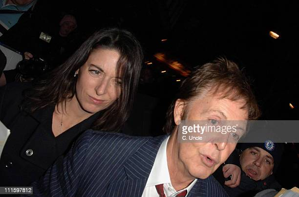 Mary McCartney and Sir Paul McCartney during 2007 Burns Night Party Departures at St Martins Lane Hotel in London Great Britain