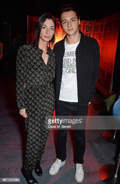 Mary McCartney and son Arthur Donald attend the Hoping For Palestine benefit concert for Palestinian refugee children at The Roundhouse on June 4...