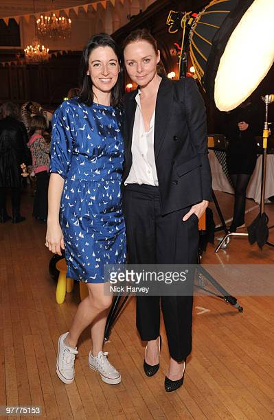 Mary McCartney and Stella McCartney attend the launch of new collection by Stella McCartney for GapKids at Porchester Hall on March 16 2010 in London...