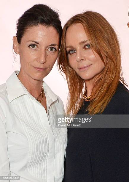 Mary McCartney and Stella McCartney attend The London 2014 Stella McCartney Green Carpet Collection during London Fashion Week at The Royal British...