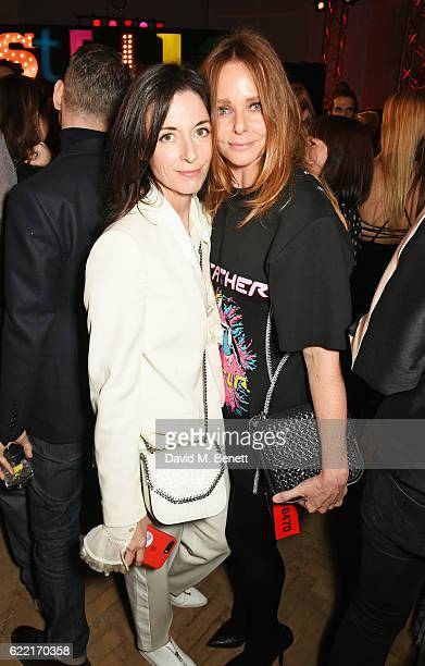 Mary McCartney and Stella McCartney attend the Stella McCartney Menswear launch and Women's Spring 2017 collection presentation at Abbey Road Studios...
