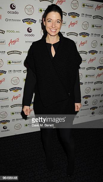 Mary McCartney arrives at the VIP screening of 'Food Inc' at the Curzon Cinema Mayfair on February 8 2010 in London England