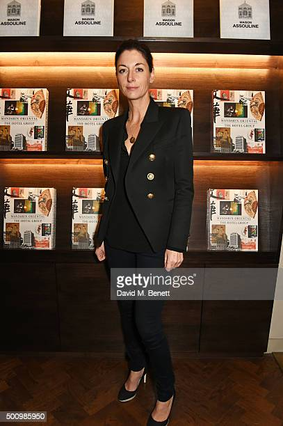 Mary McCartney attends a champagne reception to celebrate the launch of 'Mandarin Oriental The Book' by Assouline at Maison Assouline on December 11...