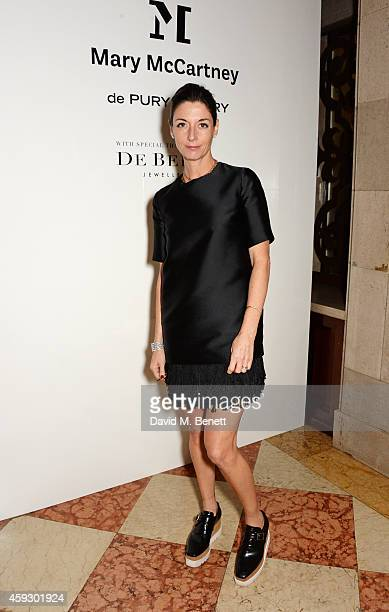 Mary McCartney attends the book launch and private view of 'Mary McCartney Monochrome And Colour' curated by De Pury De Pury on November 20 2014 in...