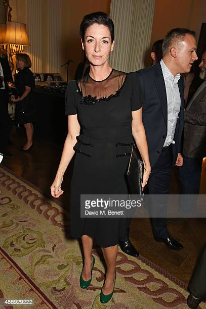 Mary McCartney attends the London Fashion Week party hosted by Ambassador Matthew Barzun and Mrs Brooke Brown Barzun with Alexandra Shulman in...