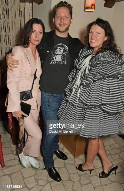 Mary McCartney Derek Blasberg and Katie Grand attend the LOVE YouTube LFW party supported by PerrietJouet and hosted by Katie Grand Derek Blasberg at...