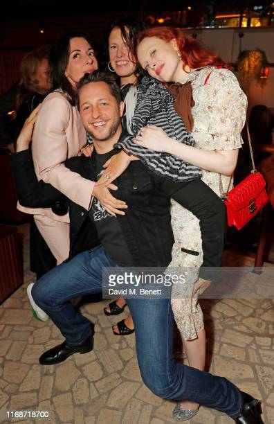 Mary McCartney Derek Blasberg Katie Grand and Karen Elson attend the LOVE YouTube LFW party supported by PerrietJouet and hosted by Katie Grand Derek...
