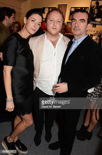 Mary McCartney James McCartney and Simon Aboud attend the book launch and private view of 'Mary McCartney Monochrome And Colour' curated by De Pury...