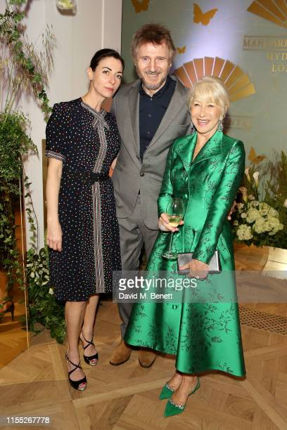 Mary McCartney Liam Neeson and Dame Helen Mirren attend the Reinvented and Reimagined Mandarin Oriental Hyde Park London relaunch party on June 11...