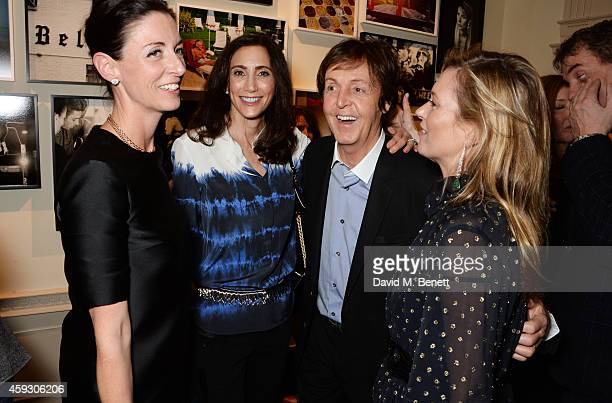 Mary McCartney Nancy Shevell Sir Paul McCartney and Kate Moss attend the book launch and private view of 'Mary McCartney Monochrome And Colour'...