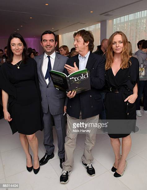 Mary McCartney Simon Aboud Paul McCartney and Stella McCartney attend the launch party of publication 'Told The Art Of Story' at St Martins Lane...
