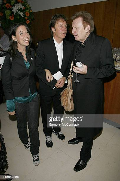 Mary McCartney Sir Paul McCartney and Mike McCartney attend the Macmillan Cancer Support 'Off the Wall' Fundraiser on September 21 2007 in London...