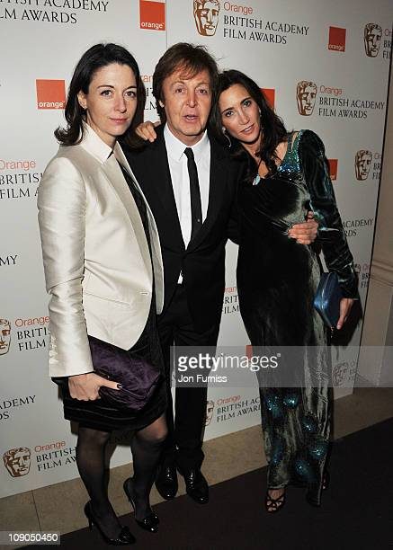 Mary McCartney Sir Paul McCartney and Nancy Shevell attend the 2011 Orange British Academy Film Awards at The Royal Opera House on February 13 2011...