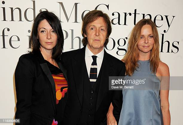 Mary McCartney Sir Paul McCartney and Stella McCartney attend a private viewing of 'A Life In Photographs An Exhibition of Photography by Linda...