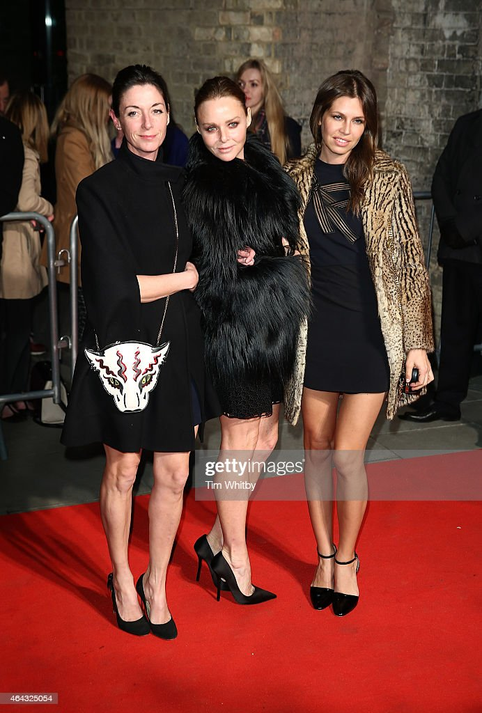 Mary McCartney, Stella McCartney and Dasha Zhukova attend The World's First Fabulous Fund Fair in aid of The Naked Heart Foundation at The Roundhouse on February 24, 2015 in London, England.